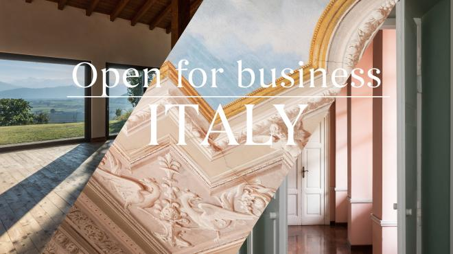 Open for business in Italy! italy real estate fantastic frank
